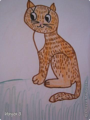 Кошечек Марина шила и рисовала мордочки  сама , я только помогла обвести контур . фото 8