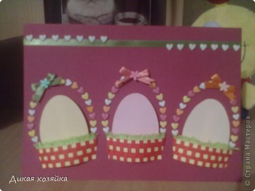 вот моя открыточка к Пасхе фото 4