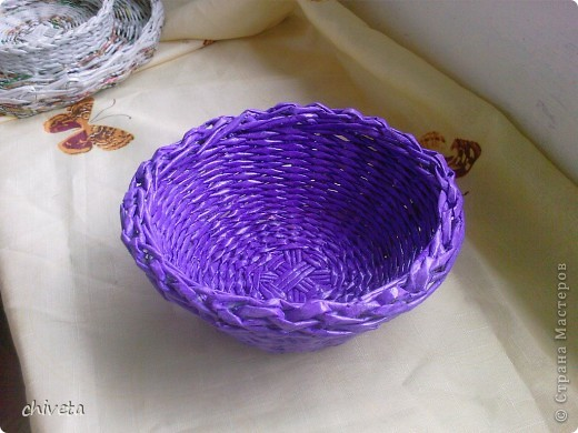 фиолетовая корзинка