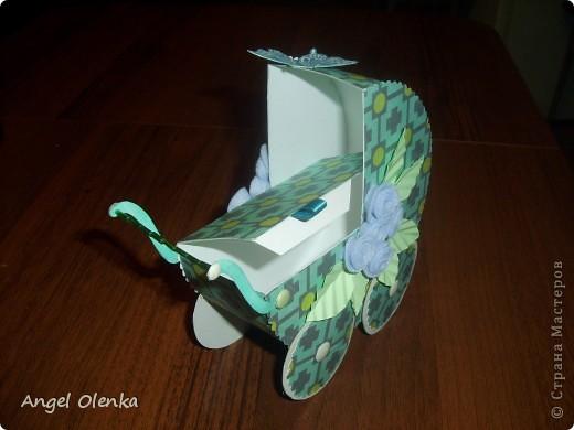 Эта колясочка была сделана в конце прошлого года на рождение мальчика. фото 2