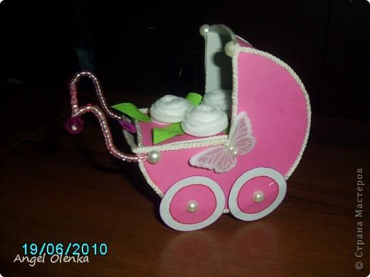 Эта колясочка была сделана в конце прошлого года на рождение мальчика. фото 5