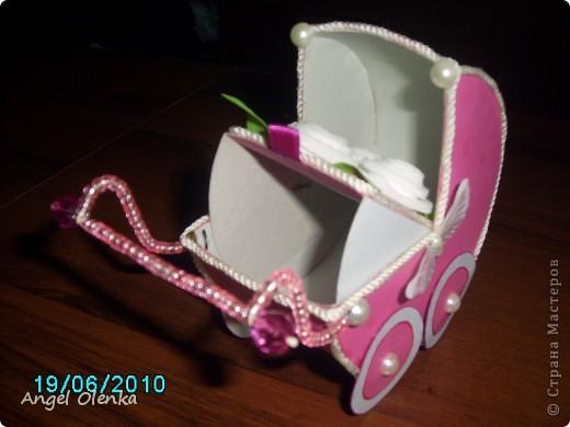 Эта колясочка была сделана в конце прошлого года на рождение мальчика. фото 7