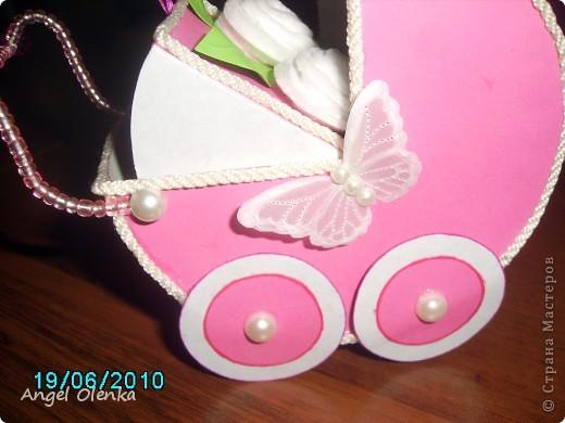 Эта колясочка была сделана в конце прошлого года на рождение мальчика. фото 8