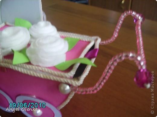 Эта колясочка была сделана в конце прошлого года на рождение мальчика. фото 6