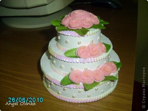 Такой тортик делала на юбилей свадьбы. фото 1