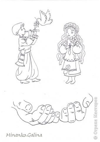 Слава миру на Земле. Вытынанки сделаны по мотивам рисунков художников  Аникиных. фото 3