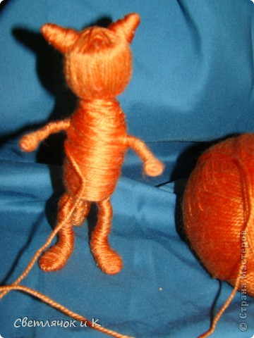 """Сегодня хочу показать свои игрушечки-шерстянушечки.Вдохновили на творчество коты и крыски """"Немаленького""""(это ник,живёт на Лиру,а сейчас у него уже свой сайт  kotodel.ru ) И вы,наверняка,встречали его работы. Очень хотелось придумать что-то своё.  Итак-Лёвушка-двоюродный брат Бонифация) фото 10"""