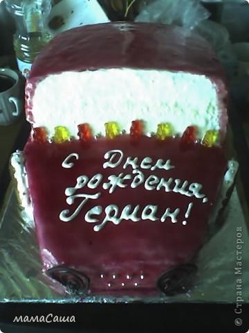 Кораблик - бисквитный торт с фруктами и творожным суфле фото 8