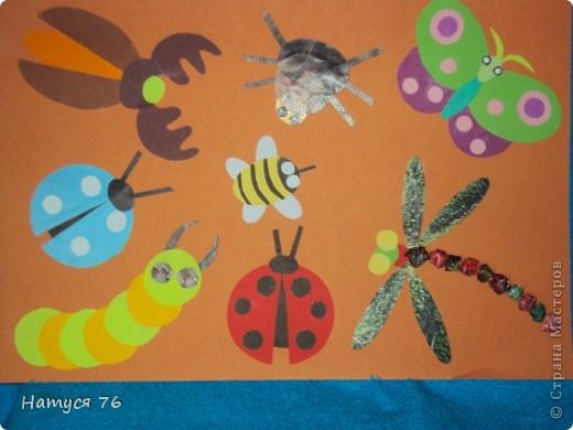 Это насекомые из кругов и овалов. Мы делали с детьми 5-6 лет фото 1