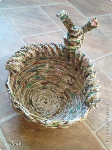 Вот такие у меня получились плетения-изобретения ))) Это камыш,в идеале мной увиденный - был сплетен из соломы... Смотриться красиво,вот только надо окрасить) фото 8