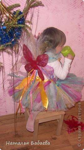 идея юбки, увидела где-то на просторах интернета, просто чуть по своему сделала 5 цветов сетки с лентами.  фото 1