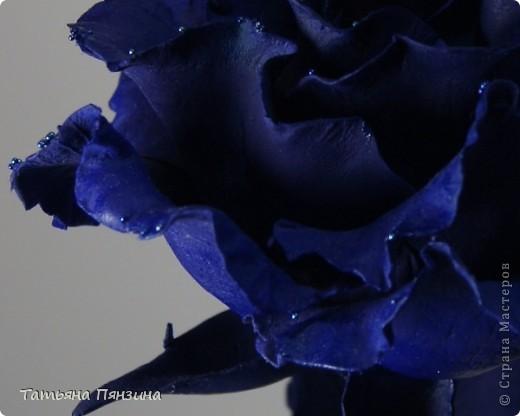 Эта работа сделана из глины DECO, подставка стекло и  стеклянные камушки. Давно роза стояла, ждала своего оформления и вот, что получилось.  фото 5