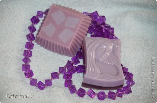 Мыло с ароматом лаванды (отдушка косметическая+ эфирное масло лаванды). фото 2