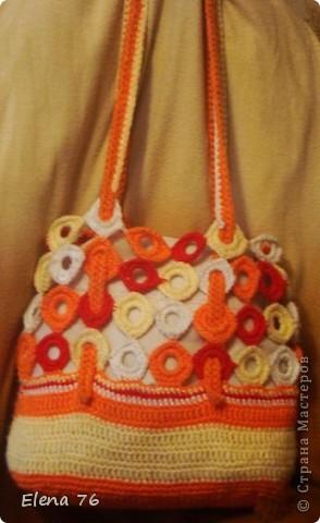 Гардероб Вязание крючком вязанные сумки Бусины Ленты Пряжа фото 5