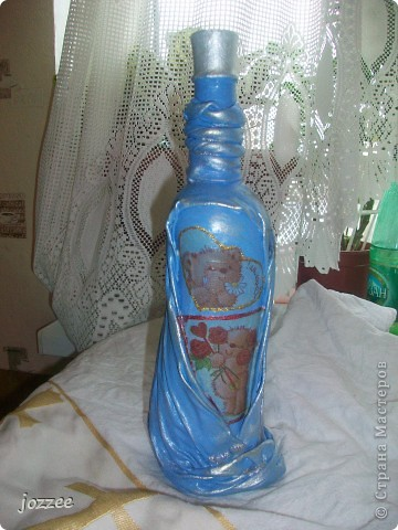 Декорирование бутылок на крестины и ДР фото 1