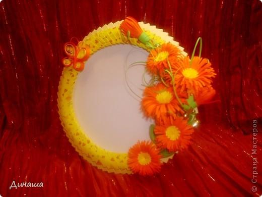 Розовая рамочка (делала для свадебного фото). фото 7