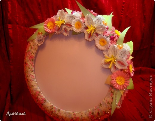 Розовая рамочка (делала для свадебного фото). фото 1