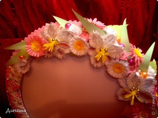 Розовая рамочка (делала для свадебного фото). фото 3