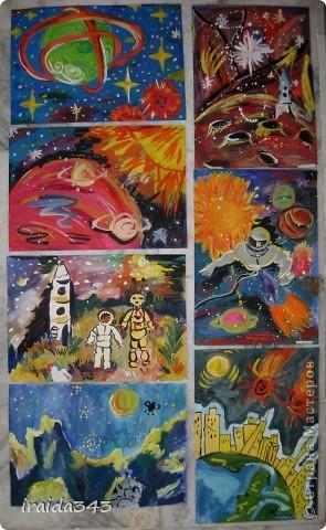 Очень благодатная тема для творчества. Рисунки ребят шестого класса. фото 7