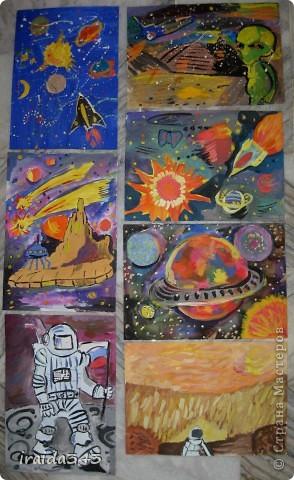Очень благодатная тема для творчества. Рисунки ребят шестого класса. фото 8