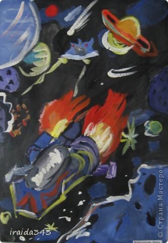 Очень благодатная тема для творчества. Рисунки ребят шестого класса. фото 3