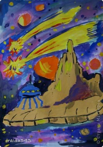 Очень благодатная тема для творчества. Рисунки ребят шестого класса. фото 2