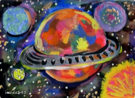 Очень благодатная тема для творчества. Рисунки ребят шестого класса. фото 4