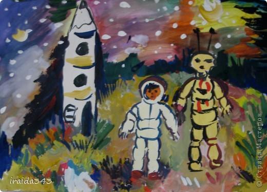 Очень благодатная тема для творчества. Рисунки ребят шестого класса. фото 1