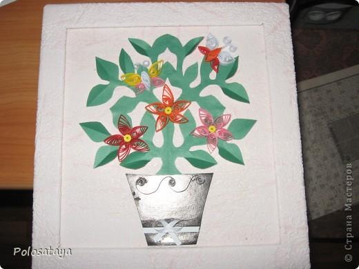 Эту картину-открыточку мы с детьми делали в подарок для бабушки.  фото 1