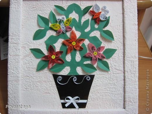 Эту картину-открыточку мы с детьми делали в подарок для бабушки.  фото 2