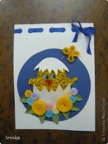 Вот такие аппликации и открытки на пасхальную тему мы делаем с детьми на кружке. Спасибо всем большое за идеи..... фото 3