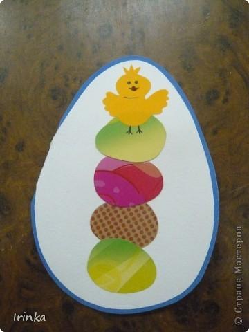 Вот такие аппликации и открытки на пасхальную тему мы делаем с детьми на кружке. Спасибо всем большое за идеи..... фото 2