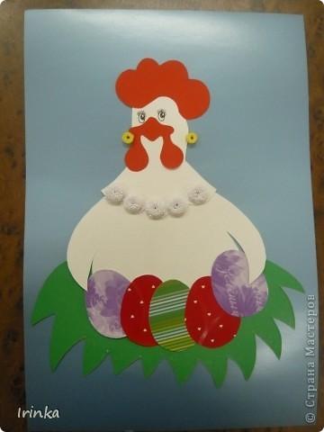 Вот такие аппликации и открытки на пасхальную тему мы делаем с детьми на кружке. Спасибо всем большое за идеи..... фото 5