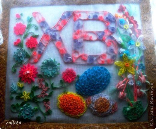 Пасхальное цветочное панно фото 1