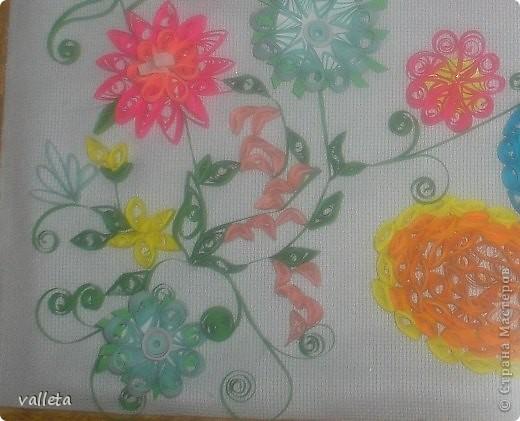 Пасхальное цветочное панно фото 2
