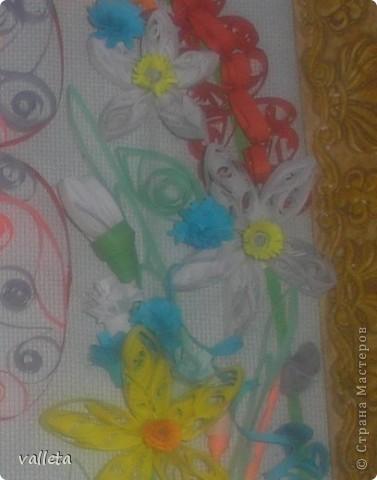 Пасхальное цветочное панно фото 3