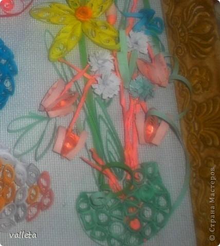 Пасхальное цветочное панно фото 4