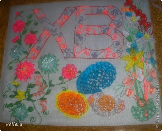 Пасхальное цветочное панно фото 5
