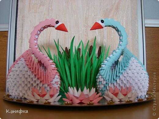 Попросили на годовщину свадьбы сделать пару лебедей, вот такие лебеди у меня получились фото 1