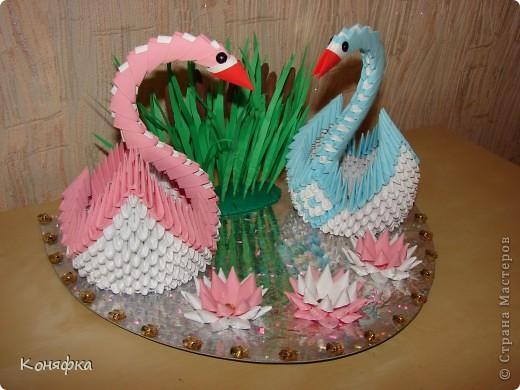Попросили на годовщину свадьбы сделать пару лебедей, вот такие лебеди у меня получились фото 3