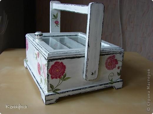 Совсем недавно сделала вот такую шкатулочку для швейных принадлежностей фото 3
