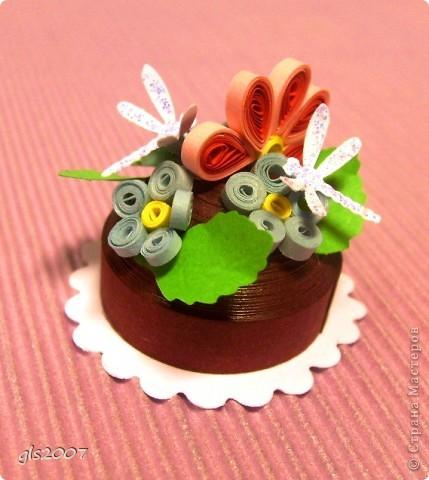 Маки, ромашки и тортик фото 3