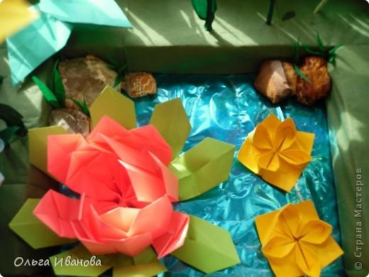 """28, 29 марта в Омске состоялся Фестиваль оригами. Мы с девчонками из кружка тоже приняли участие. Это одна из наших работ """"Бабушкин садик"""".  фото 7"""