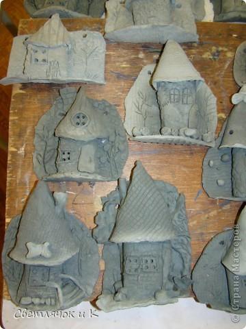 Сегодня мы лепили домики,Идею позаимствовали у Олми,спасибо ей большое!Я давно ими любовалась)     http://stranamasterov.ru/node/101881 фото 2