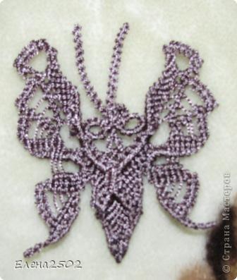 Бабочка вид сзади.  Видно крестообразное крепление для заколки или булавки.