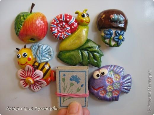 Налепила магнитиков на холодильник в подарок коллегам. Собираются приехать ко мне в гости, вот я и решила порадовать их маленькими сувенирчиками. фото 8
