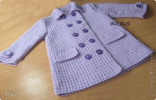 Вязание крючком Пальто детское Шерсть