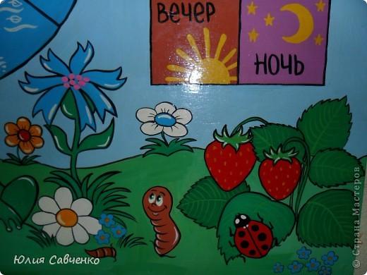 """Доброго дня всем кто заглянул!Вот такой стенд """"Природа """"мы сделали в наш любимый детский сад!Нам очень повезло с садиком (а ему с нами)!Стенд 90 * 60 Фанера,краски гуашь,всё покрыто лаком для дерева. фото 10"""