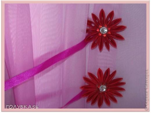 Цветы-магниты для подхвата на шторы. Канзаши. фото 4