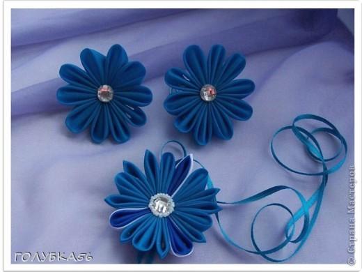 Голубая фантазия. Канзаши. фото 3